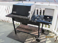 Weber Deluxe BBQ with side burner, side table and smoker