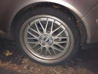 Bbs 18 inch deep dish split rims vw golf mk4 alloy wheels and tires