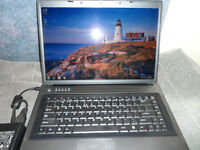 LAPTOP WITH DUAL CORE PROCESSOR, 1 GB RAM, 80 GB HD $120.