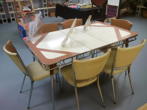 1960's Superior Chrome Furniture Co.Ltd. Dining Table w/6 Chairs