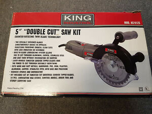 "KING INDUSTRIAL 5"" DOUBLE CUT SAW"