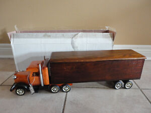 Brand new in box decorative wooden large truck storage London Ontario image 1