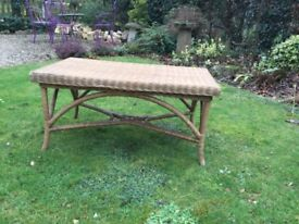 Rectangular cane Table ....ideal for conservatory ?