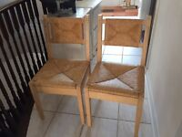 Set of two kitchen chairs