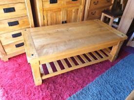 Oak Furniture Land Baku Solid Mango Large Coffee Table