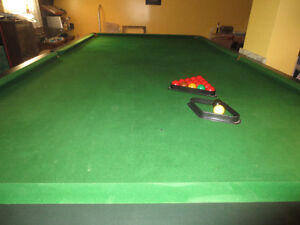 """Snooker Table or Pool Table 12' 6"""" X 6' 9"""" For Sale"""