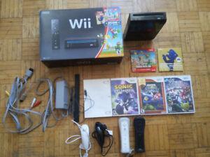 Nintendo Wii New Super Mario.Wii Bundle+ 1 Controller + 4 Games