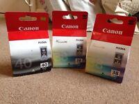 Canon CL-38 Original printer cartridges x2/ Black BL-40 Original x1
