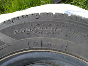 Good year ultra winter tires 2set-2kinds size with rims