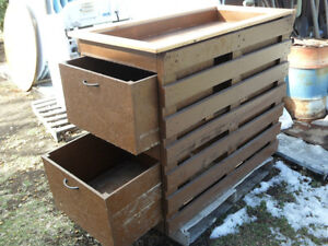 Clearance Commercial Large Wooden Potato/ Onion Bin $60.00