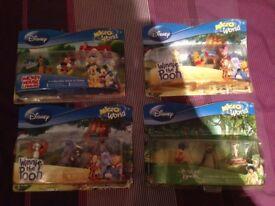 Disney Microworld x 4