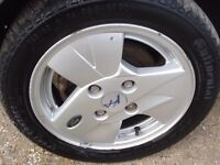 """Ford Ka 14"""" Alloy with good condition tyres,"""
