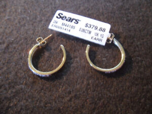 new gold earrings with real diamonds