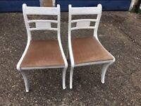 2 X SHABBY CHIC CHAIRS STURDY CONDITION DELIVERY
