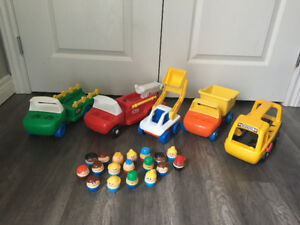 Vintage little tykes vehicles and chunky people