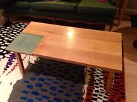 Solid maple coffee table - modern design