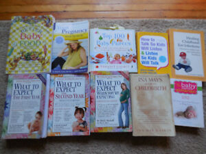 Baby Books: What to Expect When you are Expecting, Ina May etc..