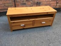 Solid wood pine TV cabinet
