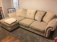 Stone/biscuit corner sofa