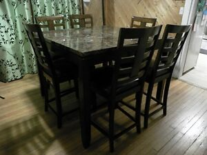Standard Bella Collection Counter Height 7 Piece Table & Chairs