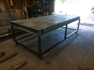 Fabrication/workbench rolling table