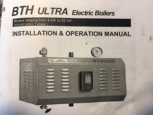 BTH Ultra Electric Boiler 18KW 120/240 Single Phase Demo Unit