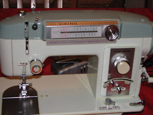 Vintage Viking Sewing Machine and accessories
