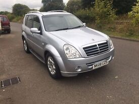 SSangyong Rexton 270, DIESEL, Automatic, Low Miles 88K, Full leather 7 Seater