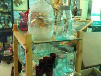 Canadian sealer / canning jars, aqua, clear, Crown, Corona, Ball