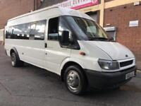 Ford Transit 2005 2.4 TD 430 L Mini Bus 5 door 17 SEATER, EXTRA LWB, NO VAT