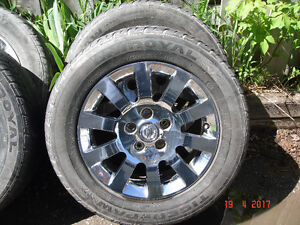 Chrome rims and tires 215/60R16-95