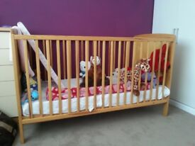 Child's cot and mattress