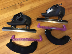 bont speed skates with accessories - Women's size 7.5