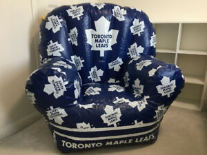 Large inflatable Toronto Maple Leafs chair