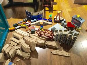 Ensemble de train et rails en bois - plus de 150 morceaux !