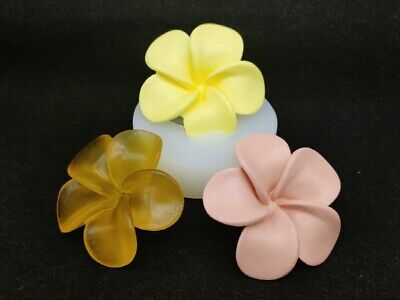 3D Plumeria flower, Silicone Mold Polymer Clay Jewelry Soap Resin Wax