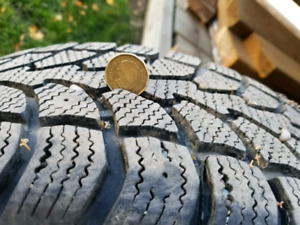 Winter tires and rims 205/55/16, 5x112 bolt pattern $900