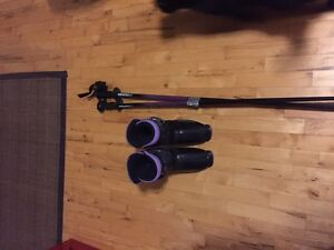 Free womens ski boots and poles