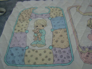 7 Quilted Baby Bibs