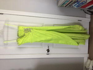 Prom Dress- Lime Green & Sparkles!