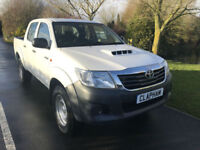 2015 65 TOYOTA HILUX 2.5D 4WD EURO 5 145 BHP 1 COMPANY OWNER ONLY 24000 MILES
