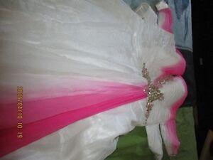 Belle robe de Bal avec pierre blanche .
