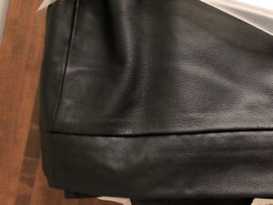 Black Leather Futon Cover NEW (from Danier Leather)