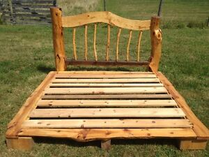 KING SIZE BED.HAND CRAFTED LIVE EDGE DESIGN WORK OF ART