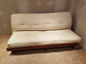 Wooden Futon With Mattress Sold Ppu