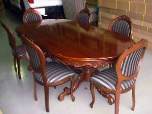 Dining Table and Chairs in solid mahogany Coomera Gold Coast North Preview