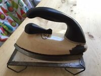 Vintage Cream Aga iron and base plate stand