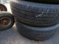 1 set of rims with hankook optimo tire's for hyundai 5 bolts 19