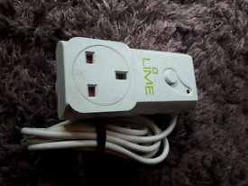 Lime Energy Saving Plug With Infrared Receiver New Save Energy