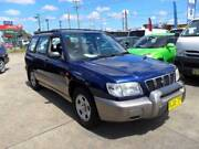 2001 SUBARU FORESTER LIMITED 5 SPEED MANUAL BLUE 4D WAGON Lansvale Liverpool Area Preview